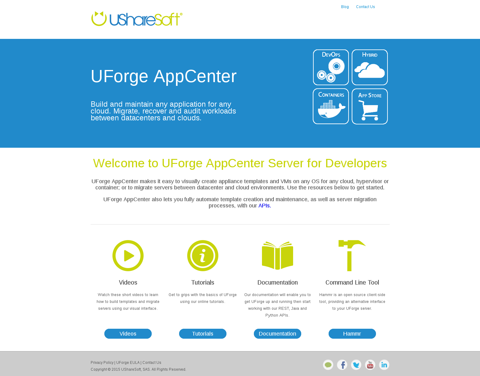 UShareSoft – Welcome product page