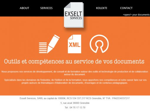Exselt Services – Website