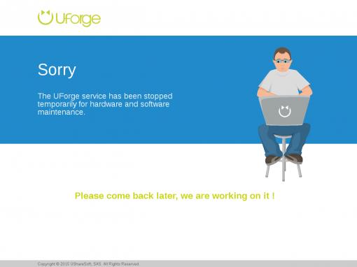 UShareSoft – Maintenance page